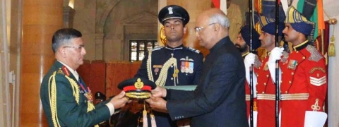 President confers honorary rank of General of Indian Army on Purna Chandra Thapa
