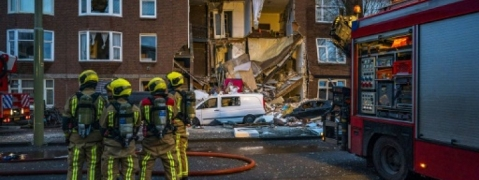 Nine injured in Hague building collapse