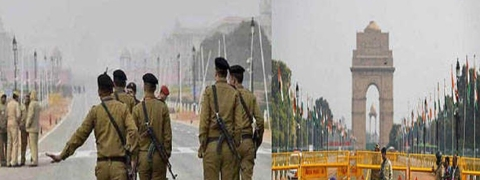 Elaborate security cover in Delhi for 70th R-Day celebrations