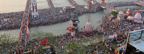 3 crores take a dip at the Kumbh