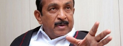 Vaiko and his party members resorted to black flag agitation against PM