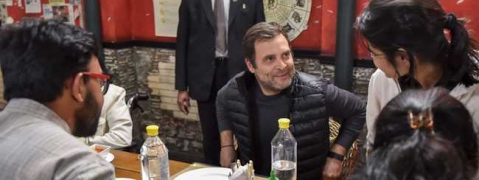 Rahul charms students at dinner