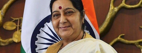 Modi greets Sushma on her birthday