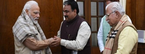 BJP's newly elected Jind MLA meets PM in presence of Haryana CM