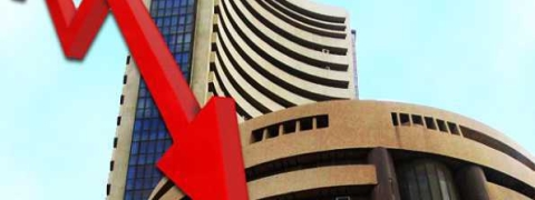 Sensex down by 145.34 pts