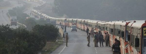 UP sets Guinness record by longest parade of buses during Kumbh