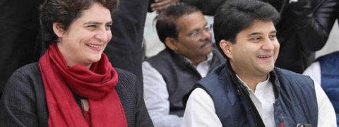 Priyanka attends meeting of AICC gen secys chaired by Rahul
