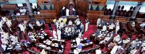 RS adjourned for day amid TMC protest on misuse of CBI in West Bengal
