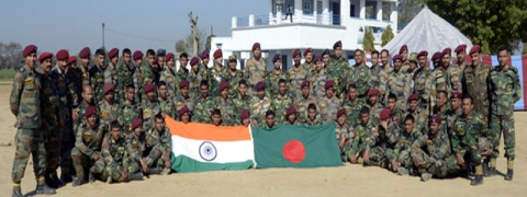 Eighth India-Bangladesh joint military exercise from March 2