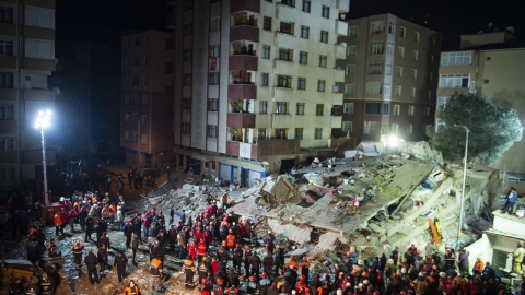 Death toll hits 16 in Istanbul building collapse