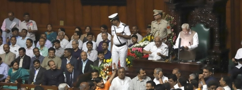 Budget session in Karnataka begins on stormy note