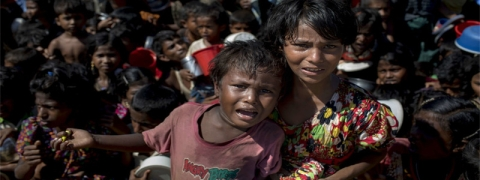 Rohingya refugee children living in untenable situation