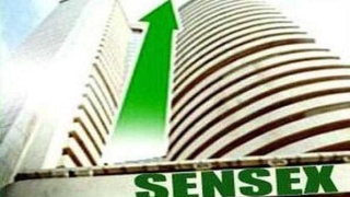 Sensex up by 71 pts