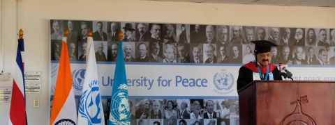 UN-founded University of Peace confers Honorary Doctorate on VP