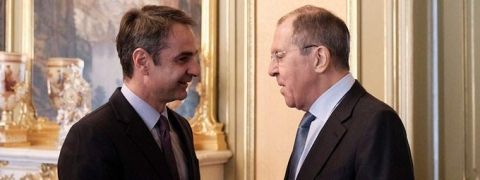 Russian Prime Minister meets with Greek Opposition Leader Mitsotakis in Moscow
