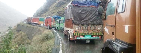 Only one-way traffic to ply on Srinagar-Jammu Highway