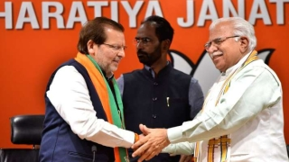 Three-time Congress MP Arvind Sharma joins BJP