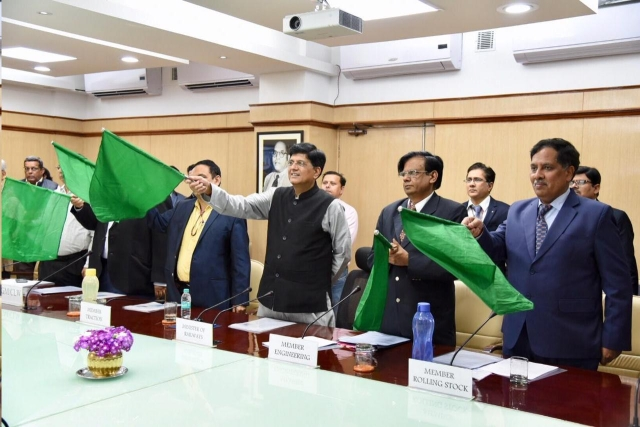 Railway Minister flags off high speed WAP-&HS loco, a 'Make-In India' initiative