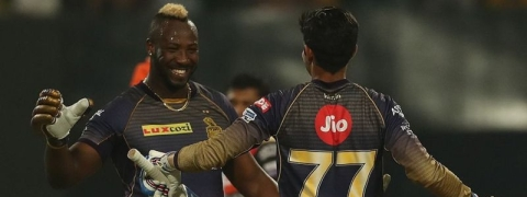 Andre Russell's 19-ball-49 powered KKR win