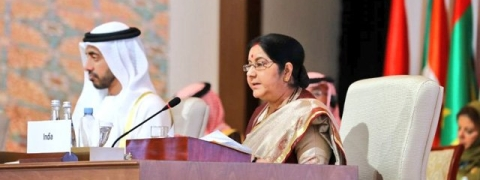 In absence of Pak, Sushma tells OIC to ensure 'dismantling' of terror hubs, cut funding