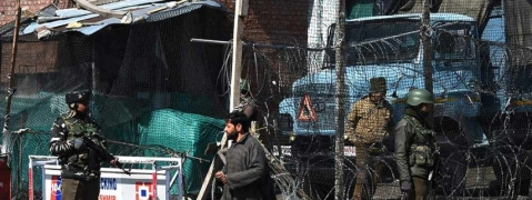 Blast damaged house, vehicle near SF bunker in Srinagar