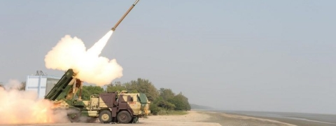 DRDO test fired Guided Pinaka from Pokharan range