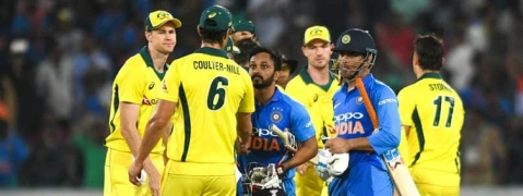 1ST ODI: India beat Australia by 6 wickets, take 1-0 lead