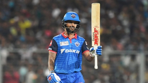 Dhawan's 97 helps Delhi Capitals to victory over KKR by 7 wickets