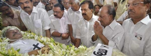 KM Mani laid to rest with full State Honours; thousands bid adieu