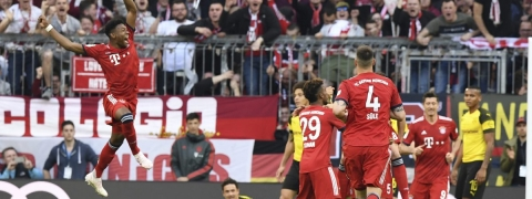 Bayern crush Dortmund 5-0 to grab top spot in German Bundesliga