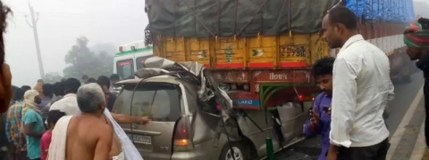 Four of family killed in UP road mishap