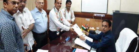 Atanasio Monserrate files nomination as Congress candidate in Goa bypoll