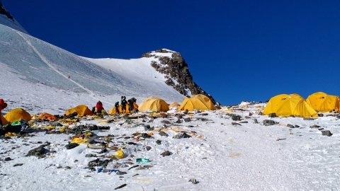 Mount Everest: Ugly footprints of climbers!
