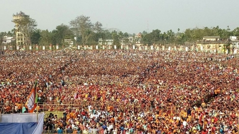 A new voter-led tribal villagers to occupy first row of Modi's rally in Tripura