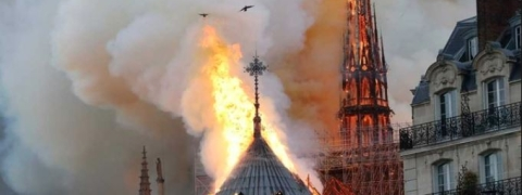 Paris: Spire of Notre Dame Cathedral collapses in huge fire
