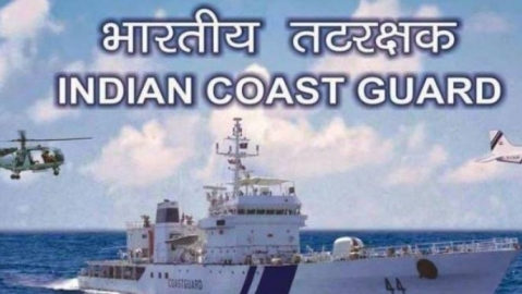 ICG rescues crew of sinking barge, off Mitha port in Gujarat