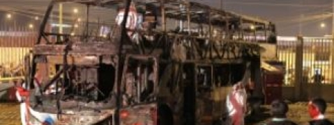 Bus catches fire; 20 killed in Peru
