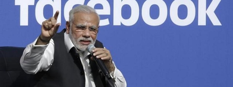 Modi rated most popular world leader on Facebook