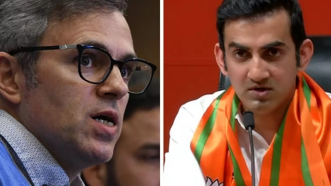 Gautam Gambhir joins issue with Omar Abdullah on 'PM post' in Kashmir