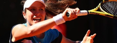 Konta beats Stephens to face Venus Williams at Italian Open