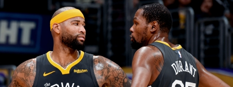 Warriors centre Cousins questionable for Finals Game 1