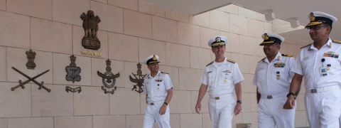 Discussed specific steps for cooperation with India: US Navy chief