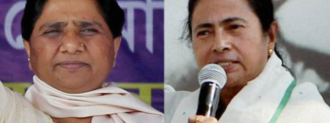 BJP flays Mayawati for supporting Mamta