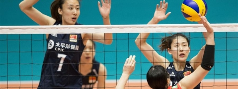 China lost to Japan at Montreux Volley Masters