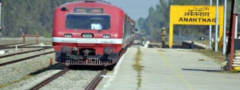 Train service remains suspended in south Kashmir for security reasons