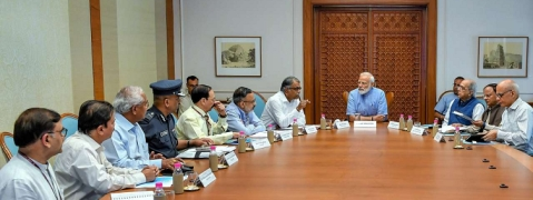 PM chairs high-level meeting to review preparedness for cyclone Fani