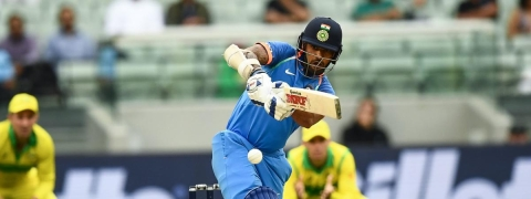 Dhawan slams 50 as India deny Australia a breakthrough