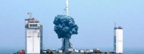 China launches carrier rocket from floating platform
