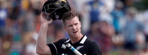 James Neesham's half-ton pulls New Zealand out of disgrace