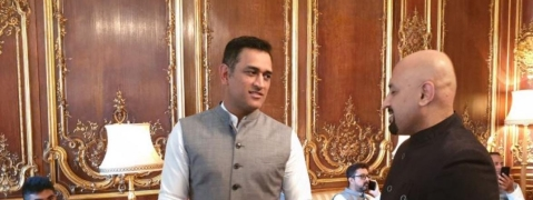Indian cricket team visits High Commissioner's residence in London